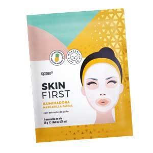 mascarilla facial de tela iluminadora skin first