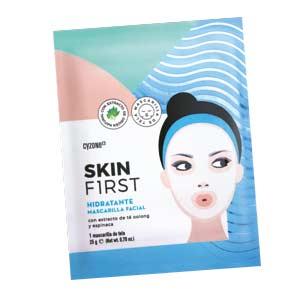 mascarilla facial de tela hidratante skin first