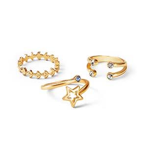 set de anillos x3 faded