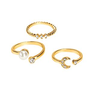 set de anillos diamond rush x3
