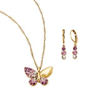 Estuche Collar + Aretes Gold & Fly